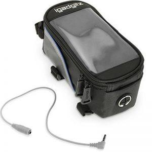 igadgitz Large Noir Sac Housse Bicyclette Sacoche de Cadre Résistant à l'eau Réfléchissant pour Samsung Galaxy S8, S8+, S6 S7 Edge, Note 2 3 4 5, A7 A9 J2 A8 J5 J7 C5 Smartphone Support Ecran Tactile de la marque image 0 produit