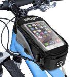 igadgitz Petit Noir Sac Housse Bicyclette Sacoche de Cadre Résistant à l'eau Réfléchissant pour Apple iPhone SE 5S 5 5C 4S 4 Smartphone Support Ecran Tactile de la marque image 1 produit