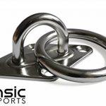 Intensic Sports Fixation de mur et de plafond en acier inoxydable avec vis en inox et chevilles,crochet avec anneau, support/fixation pour traineau, hamac, yoga aérien, voile d'ombrage., 1er-Pack, Standard de la marque image 3 produit