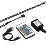 iRegro Ruban à LED pour HDTV Rétroéclairage TV USB, Home Cinéma Kit d'éclairage d'accentuation avec télécommande, 2 RGB Multi Color Led Light Strip de la marque image 4 produit