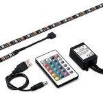 iRegro Ruban à LED pour HDTV Rétroéclairage TV USB, Home Cinéma Kit d'éclairage d'accentuation avec télécommande, 2 RGB Multi Color Led Light Strip de la marque image 4 produit