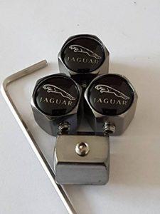 JAGUAR GUN METAL GREY antivol PNEU Bouchons de valve DE PROTECTION EN ALLIAGE TOUS LES MODÈLES (GROWLER XK) Capuchon de valve de la marque image 0 produit