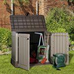 Keter/chalet et jardin Grand coffre de rangement pour le jardin en pvc CARACAS 845 L Beige/Marron Clair de la marque image 1 produit