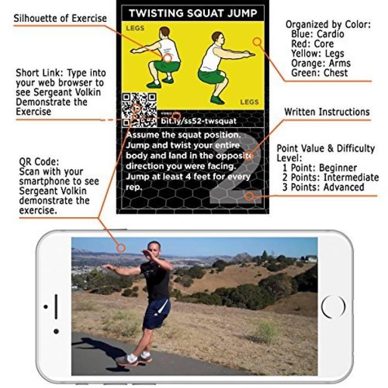 Force Stack 52 POIDS EXERCICES jeu de carte Exercice Cartes Tri pack