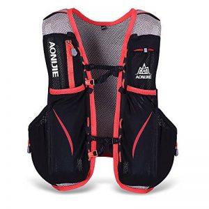 Lixada Gilet-sac à dos de sport 5 L, veste pour système d'hydratation/poche à eau d'1,5 L pour cyclisme, randonnée, sport en plein air de la marque image 0 produit