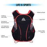 Lixada Gilet-sac à dos de sport 5 L, veste pour système d'hydratation/poche à eau d'1,5 L pour cyclisme, randonnée, sport en plein air de la marque image 3 produit