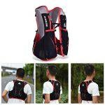 Lixada Gilet-sac à dos de sport 5 L, veste pour système d'hydratation/poche à eau d'1,5 L pour cyclisme, randonnée, sport en plein air de la marque image 4 produit