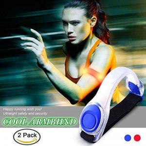Lot de 2Kyc LED Brassard réfléchissant Ceinture de course haute visibilité Gear pour jogging Marche ou de cyclisme phosphorescent en sécurité LED Band de la marque image 0 produit