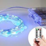 Lyhoon 16.4ft (5m) 50 LED Guirlande lumineuse à piles blanc chaud à distance & Timer IP65 étanche [Classe énergétique A+++] (5M-50LED-Bleu) de la marque image 1 produit
