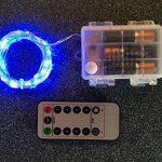 Lyhoon 16.4ft (5m) 50 LED Guirlande lumineuse à piles blanc chaud à distance & Timer IP65 étanche [Classe énergétique A+++] (5M-50LED-Bleu) de la marque image 2 produit