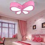 Malovecf Chambre d'enfant Plafonnier Chambre Lampe LED Créative Papillon Éclairage Jardin d'enfants Filles Princesse Éclairage d'ambiance, 500 * 400 * 100 mm, 24 W, lumière blanche de la marque image 3 produit