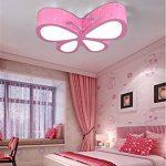Malovecf Chambre d'enfant Plafonnier Chambre Lampe LED Créative Papillon Éclairage Jardin d'enfants Filles Princesse Éclairage d'ambiance, 500 * 400 * 100 mm, 24 W, lumière blanche de la marque image 5 produit