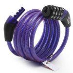 Meetlocks Câble antivol à code pour vélo en spirale 6-8mmx1200mm de la marque image 2 produit