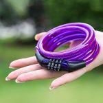 Meetlocks Câble antivol à code pour vélo en spirale 6-8mmx1200mm de la marque image 4 produit