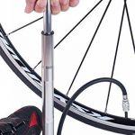 Mini pompe à vélo au sol, Super rapide, sécurisé de gonflage Presta et valve Schrader Connexion. Haute Pression Pompe à vélo avec pied de stabilisation Peg pour pneus, Route, VTT, hybride et de matièr de la marque image 2 produit