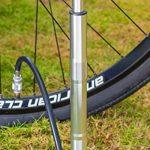 Mini pompe à vélo au sol, Super rapide, sécurisé de gonflage Presta et valve Schrader Connexion. Haute Pression Pompe à vélo avec pied de stabilisation Peg pour pneus, Route, VTT, hybride et de matièr de la marque image 5 produit