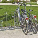 Mottez B129AR Râtelier pour 5 vélos sur 2 niveaux avec arceaux de la marque image 1 produit