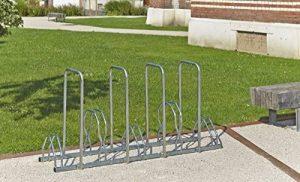 Mottez B129AR Râtelier pour 5 vélos sur 2 niveaux avec arceaux de la marque image 0 produit
