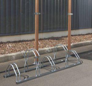 Mottez Râtelier à vélos 2 niveaux côte à côte 5 vélos Gris 160 x 39 x 49 cm de la marque image 0 produit