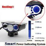 Nestling® 3 x Cree LED de vélo rechargeable 6600LM Phare Phare vélos Bike Light Torch avec 8.4V, 7200mAh 4 x 18650 batterie + Feu arrière (Noir) de la marque image 2 produit
