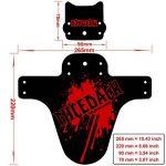 Nicedack Vélo Fender–2+ 1pièce de montagne Garde-boue VTT Garde-boue avant et arrière pour vélo BMX de la marque image 1 produit