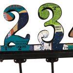 NIKKY HOME Manteau de mur Crochets salle de bains serviettes Cabine Porche Crochets Retro Vintage Crochets Hat rack Hanger Nombre arabe 1-5 Métal décoratif et bois de la marque image 3 produit