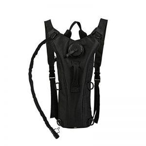 Packs d'hydratation de 3 L Zooron - Réservoir de sac à dos à eau réglable et tactique - Pour randonnée, cyclisme - Camel noir - Avec poche à eau de la marque image 0 produit