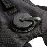 Packs d'hydratation de 3 L Zooron - Réservoir de sac à dos à eau réglable et tactique - Pour randonnée, cyclisme - Camel noir - Avec poche à eau de la marque image 4 produit