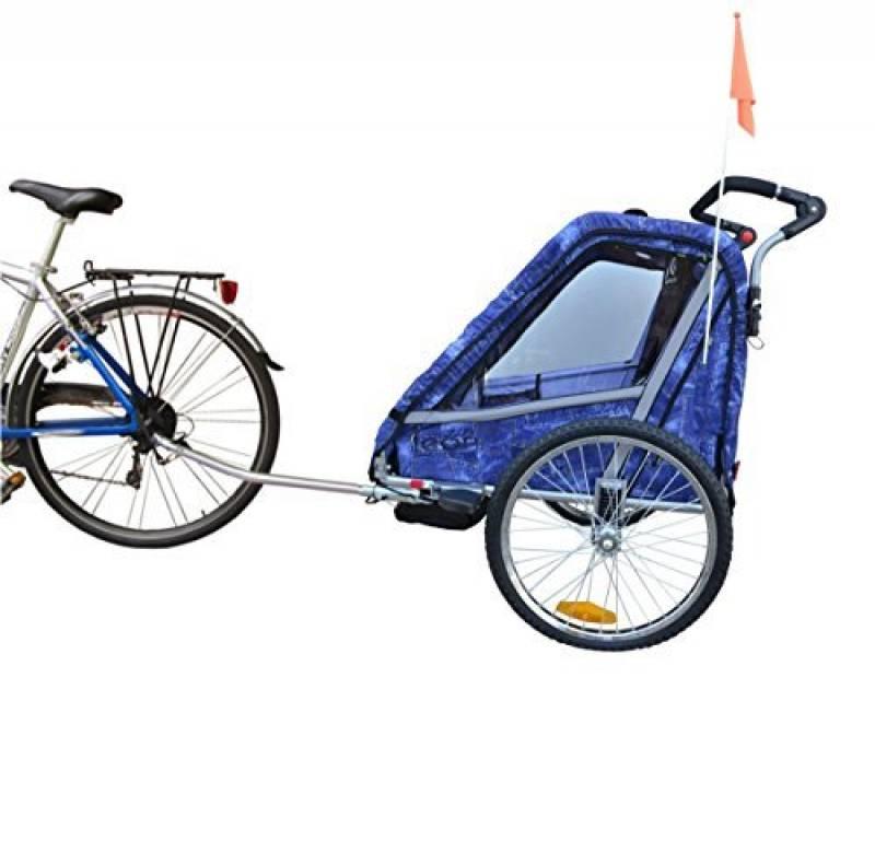 pliable Papilioshop Fox New Remorque pour v/élo et poussette roues avant pivotantes 1 enfant