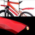 Pare-boue Avant Et Arrière Inusable Bande De Protection De Pneu Pour Vélo Bicross Avec LED Feu Arrière (4 Couleurs Optionnelles) de la marque image 4 produit