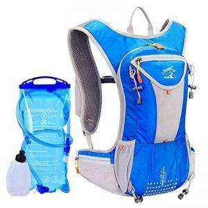 Poche à eau 2L d'équitation Sac à dos haute capacité d'hydratation Gilet Course de Marathon et sac de randonnée avec bouteille d'eau Lot pour sports de plein air de la marque image 0 produit