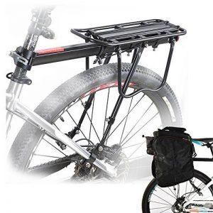 Porte-bagages Arrière Universel de vélo Ajustable en Aluminium,Bagage Transport Réglable Accessoire de Cyclisme - Capacité Max de 50 kg de la marque image 0 produit