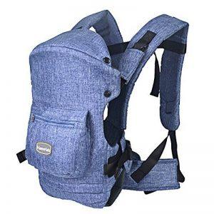 HarnnHalo - Porte-bébés ventraux   dorsaux, Baby carrier Multifonctionnel  avec 3 Positions pour enfant( 3-20 mois) 007 Bleu de la marque 6c841117de9
