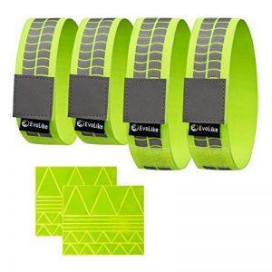 Premium EVOLIKE réfléchissant Bracelets/ceinture/Brassards/cheville Bandes (lot de 4/2paires + 60pcs gratuit la réflexion Stickers inclus) de la marque image 0 produit