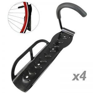 PrimeMatik - Crochet de mur pour suspendre roue de bicyclette kit de 4 unités de la marque image 0 produit