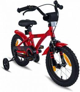 """PROMETHEUS Vélo enfant pour fils 14 pouces en rouge & noir avec petites roues   Frein à tirage et frein à rétropédalage   à partir de 4 ans   14"""" BMX Edition 2017 de la marque image 0 produit"""