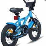 """PROMETHEUS Vélo enfant pour fils 12 pouces en bleu & noir avec petites roues   Frein à tirage et frein à rétropédalage   à partir de 3 ans   12"""" BMX Edition 2017 de la marque image 6 produit"""