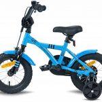 """PROMETHEUS Vélo enfant pour fils 12 pouces en bleu & noir avec petites roues   Frein à tirage et frein à rétropédalage   à partir de 3 ans   12"""" BMX Edition 2017 de la marque image 3 produit"""