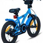 """PROMETHEUS Vélo enfant pour fils 14 pouces en bleu & noir avec petites roues   Frein à tirage et frein à rétropédalage   à partir de 4 ans   14"""" BMX Edition 2017 de la marque image 6 produit"""