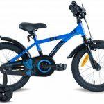 """PROMETHEUS Vélo enfant pour fils 16 pouces en bleu & noir avec petites roues   Frein à tirage et frein à rétropédalage   à partir de 5 ans   16"""" BMX Edition 2017 de la marque image 2 produit"""