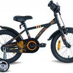 """PROMETHEUS Vélo enfant pour fils 16 pouces en noir mat & orange avec petites roues   Frein à tirage et frein à rétropédalage   à partir de 5 ans   16"""" BMX Edition 2017 de la marque image 2 produit"""