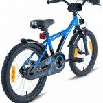 """PROMETHEUS Vélo enfant pour fils 18 pouces en bleu & noir avec béquille latérale   Frein à tirage latéral et frein à rétropédalage   à partir de 6 ans   18"""" BMX Edition 2017 de la marque image 4 produit"""