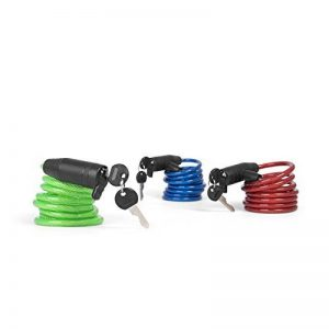 Provelo - Set d'Antivols / Cadenas pour Vélo - Kit avec 3 Cadenas - Câbles en spirale - Sérrure identique pour les 3 Antivols - 6 Clés - Format familial ultra pratique ! de la marque image 0 produit
