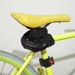 qobobo® Cadenas à combinaison vélo Serrure à combinaison de moto cyclomoteur Serrure de la chaîne antivol 90cm noir de la marque image 3 produit