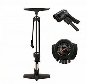 Qulista Pompe à Pied Haute Pression Portable Léger pour Vélo avec Manomètre et Tête de Pompe Double Universelle (Barre 11/160 psi) de la marque image 0 produit