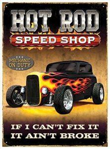 Red Hot Citron 300x 410mm en fer blanc/métal Ford Hot Rod Speed Shop Panneau mural, multicolore de la marque image 0 produit