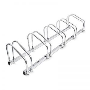 Relaxdays Râtelier familial pour 5 vélos Argent de la marque image 0 produit