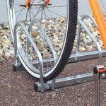 Relaxdays Râtelier familial pour 5 vélos Argent de la marque image 1 produit