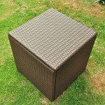 Réservoir de stockage de patio en résine de patio en plein air, 21 gallons, cadre en aluminium antirouille, résistant aux intempéries (17,7 '' 17,72 '' 17,72 '', châtaigne) de la marque image 3 produit