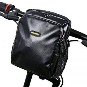 Rhinowalk Imperméable Sacoche pour Vélo sur Guidon, Comprend une bandoulière détachable et Housse De Pluie, 3L, Noir de la marque image 0 produit
